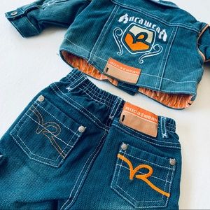 Baby Boys Rocawear 0-6month Jean 2Pc Rocababy